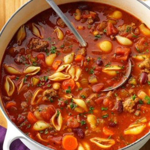 beef-tomato-and-pasta-soup