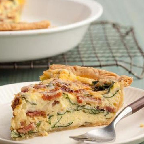Spinach And Bacon Quiche-recipe